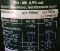 Bière Blonde - Valori nutrizionali - fr