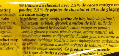 Schoko-Kuchen - Gâteau au Chocolat - Ingrédients