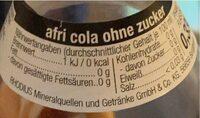 Afri Cola - Nährwertangaben - de