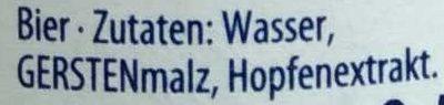Flensburger Pilsener - Inhaltsstoffe