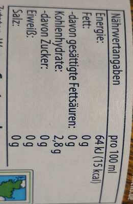 Flensburger frei. Pilsner Alkoholfrei - Valori nutrizionali - de