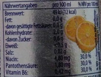 Flens Fassbrause Zitrone - Nutrition facts