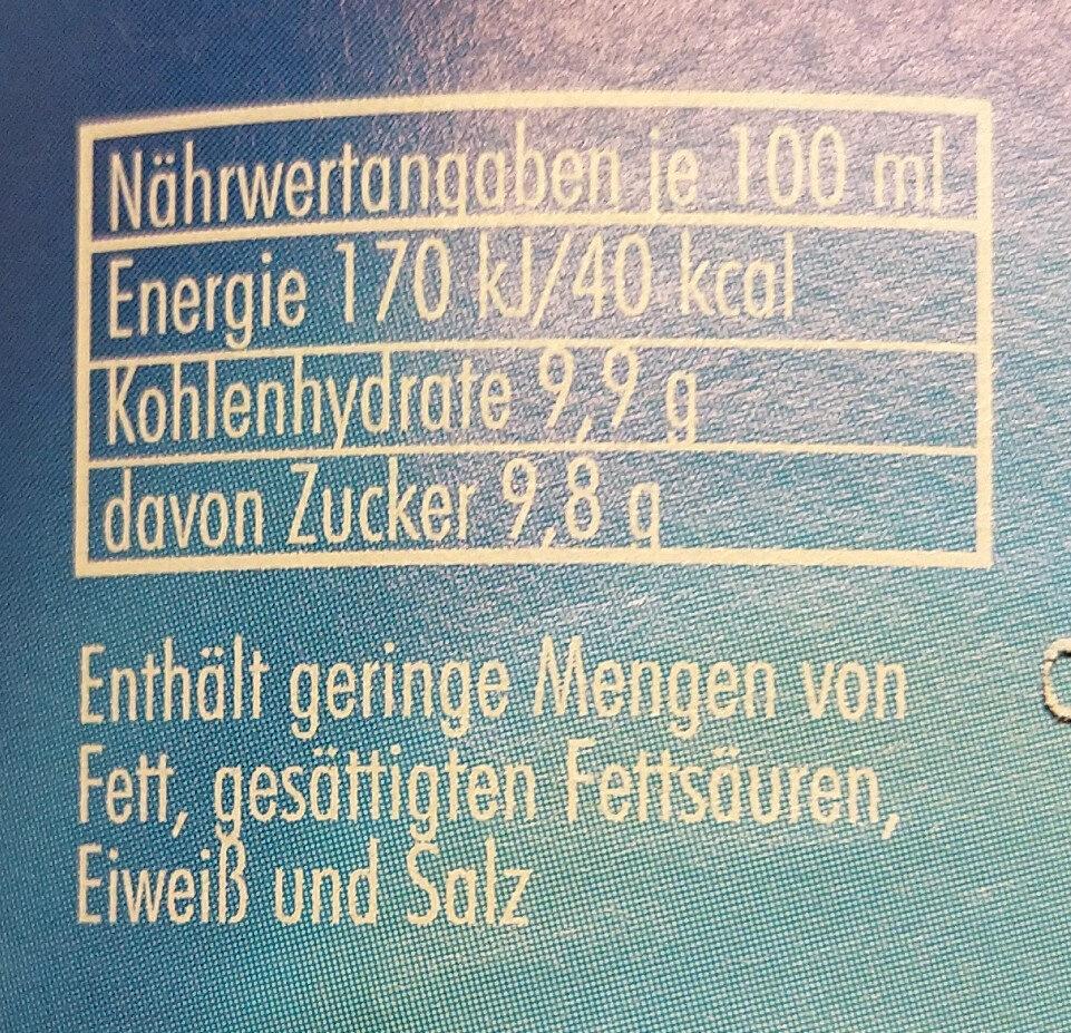 Spezi - Informations nutritionnelles