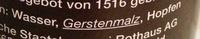 Tannenzäpfle - Ingredienti - de