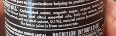 organic cola - Ingredients