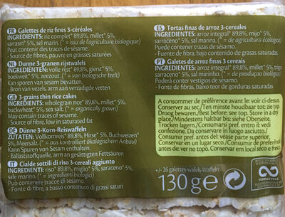 Rice 3-Grains - Ingrédients