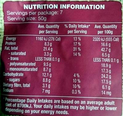 Nut & Fruit Mix - Nutrition facts - en