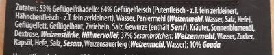 Meal Quick Geflügelburger - Ingrédients