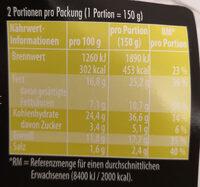 Meal Quick Cheeseburger - Voedingswaarden