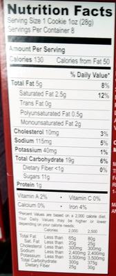 Soft baked originals milk chocolate chip - Nutrition facts - en