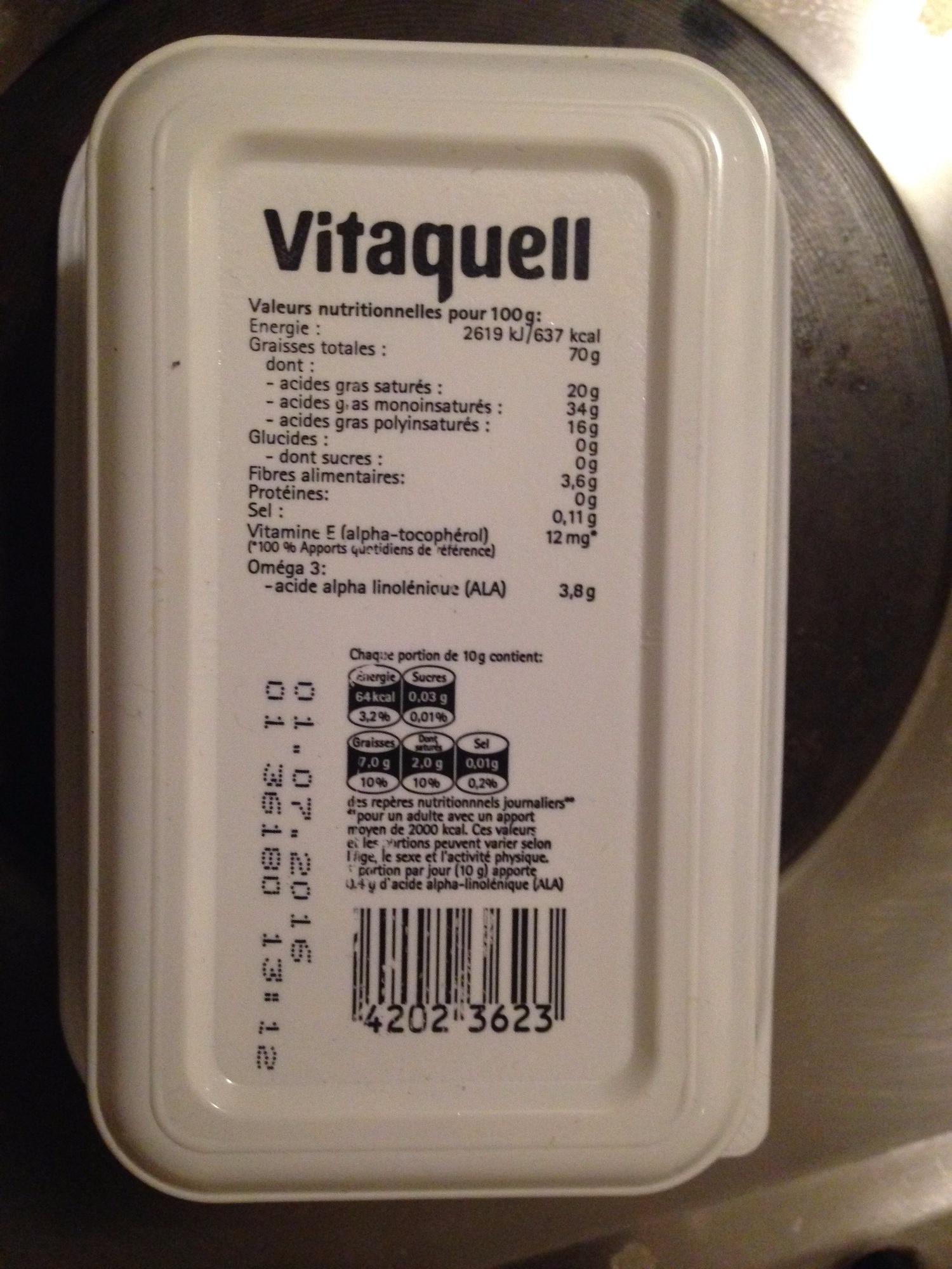 Margarine oméga bio - Voedigswaarden