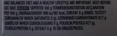 Orbit Strawberry - Informations nutritionnelles - hu