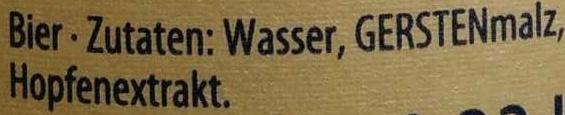 Flensburger Gold - Inhaltsstoffe