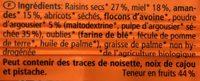 Frucht Honig Sanddorn - Ingrédients - fr