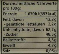 Obstsalat - Valori nutrizionali - de