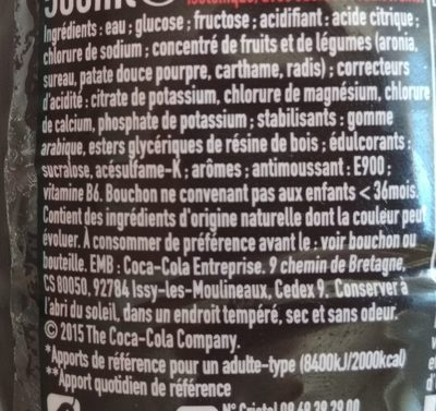 Powerade goût cerise - Ingrédients