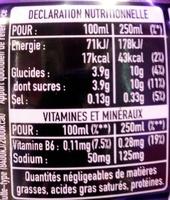 Powerade goût cerise - Informations nutritionnelles