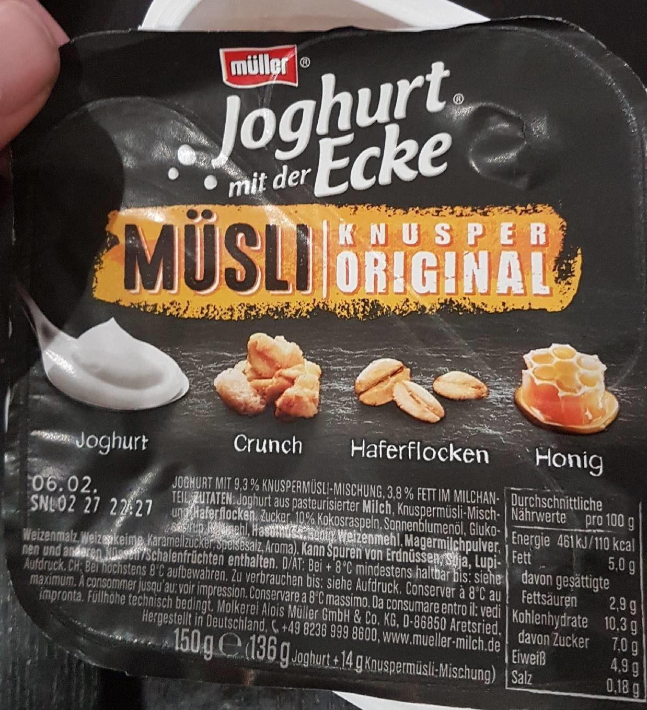 Joghurt mit der Ecke Knusper Original - Product - fr