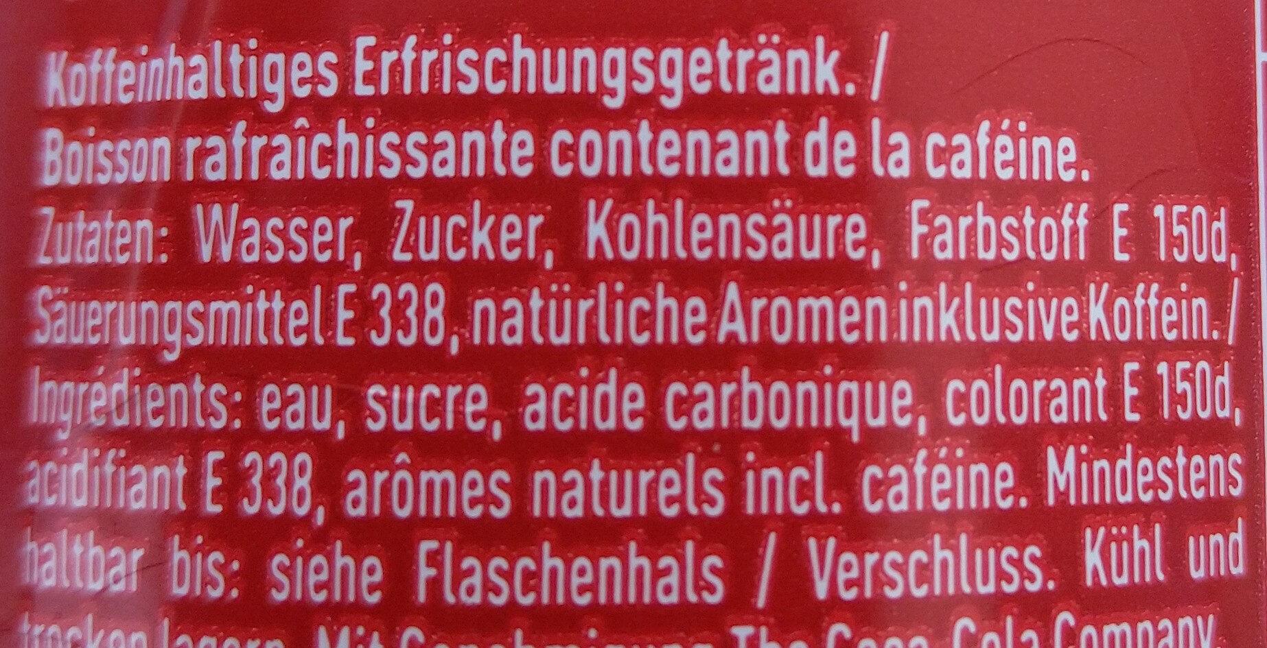 Coca Cola - Ingredients - de