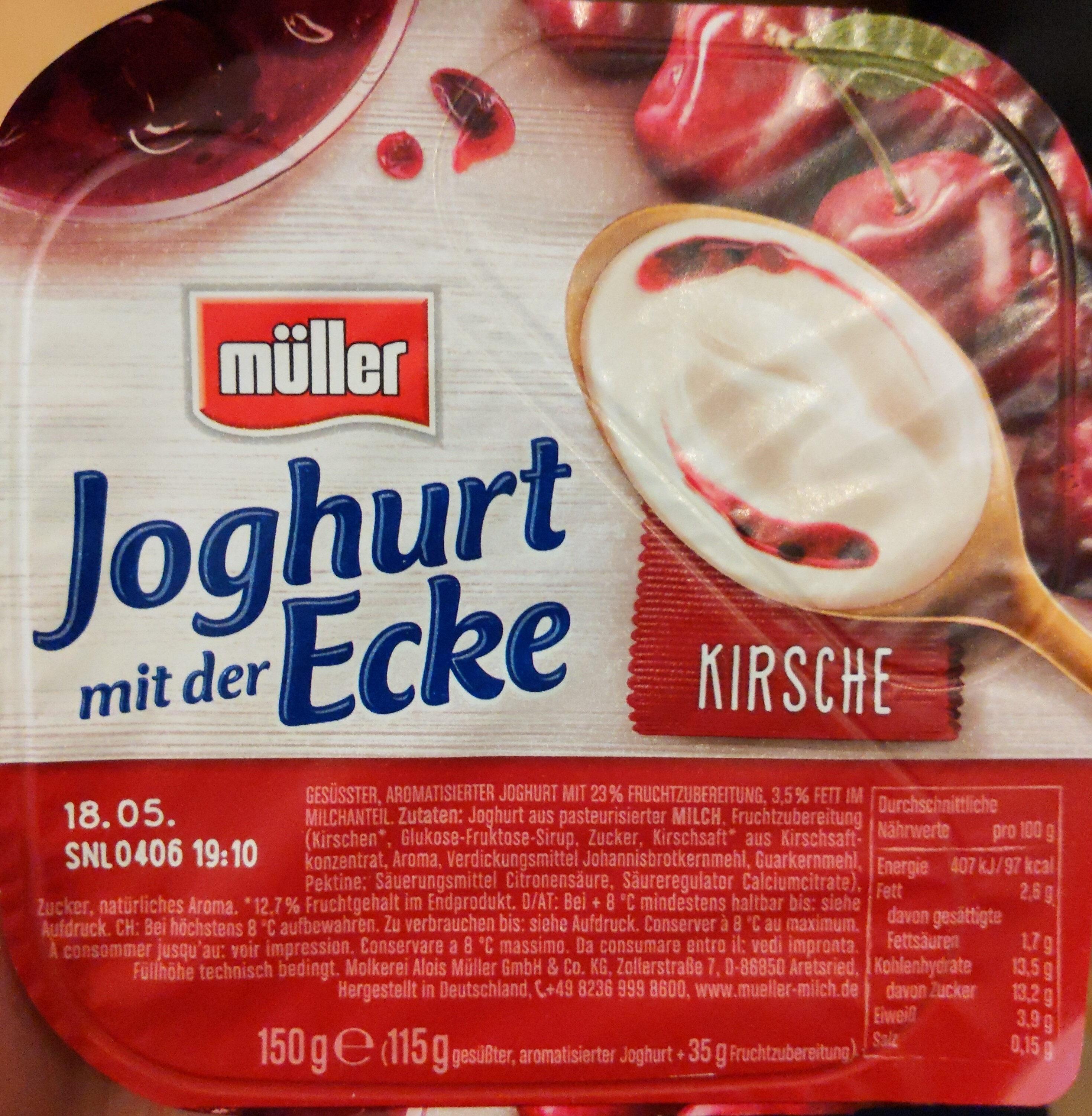 Joghurt mit der Ecke Kirsche - Produkt - de