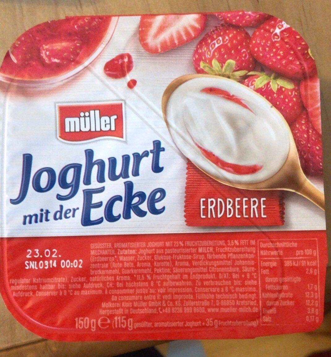Joghurt mit der Ecke, Erdbeere - Produit - de