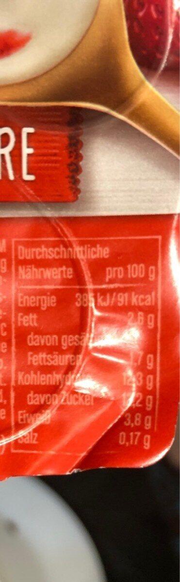 Joghurt mit der Ecke, Erdbeere - Informations nutritionnelles - de