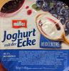 Joghurt mit der Ecke Heidelbeere - Produkt