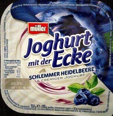 Joghurt mit der Ecke Schlemmer Heidelbeere - Produit - de