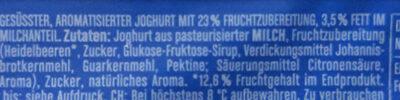 Joghurt mit der Ecke Schlemmer Heidelbeere - Ingrédients - de