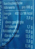 Joghurt mit der Ecke Schlemmer Heidelbeere - Informations nutritionnelles - de