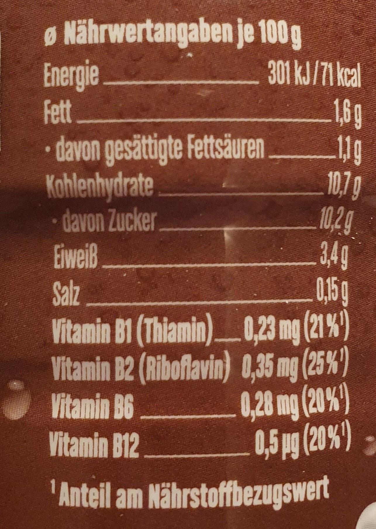 Müllermilch Schoko - Nährwertangaben - de