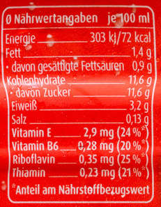 Müllermilch Erdbeere - Valori nutrizionali - de