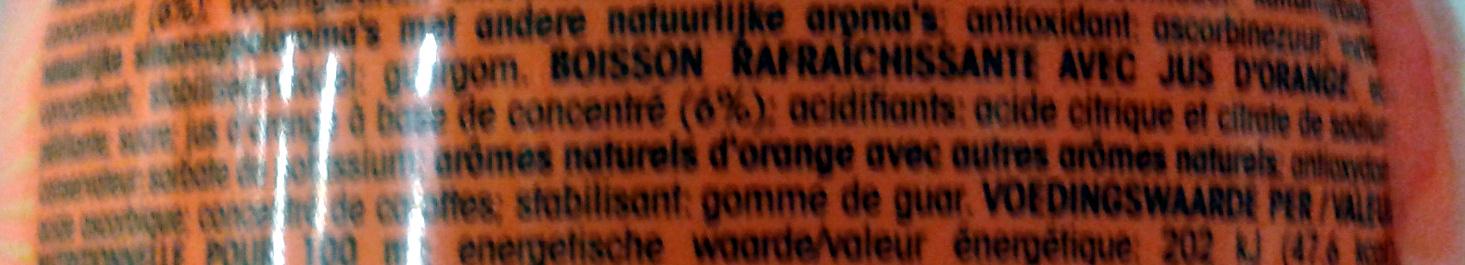 Fanta orange - Ingrediënten