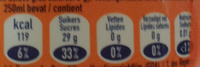 Fanta orange - Voedingswaarden - fr