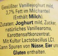 Vanille - Ingrediënten - de