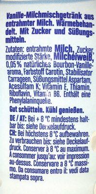 Müllermilch, Vanille 0, 1 % Fett - Ingrédients