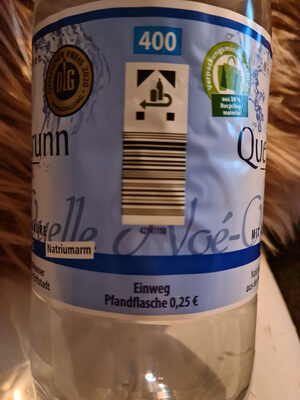 Natürliches Mineralwasser classic - Instruction de recyclage et/ou informations d'emballage - de