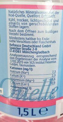 Quellbrunn naturell - Valori nutrizionali - de