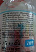 Aqua+sport, Limette & Grapefruit - Ingredients - en
