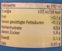 Apfelschorle - Nährwertangaben - de