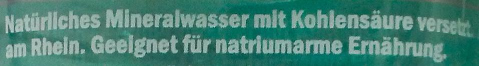 Saskia Mineralwasser medium - Ingredients