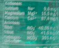 Saskia Mineralwasser medium - Nutrition facts