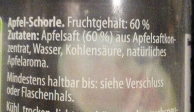 Apfel Schorle - Ingredienti - de