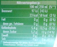 Urbacher Apfelschorle - Nährwertangaben
