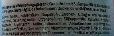 Pink Grapefruit - Inhaltsstoffe