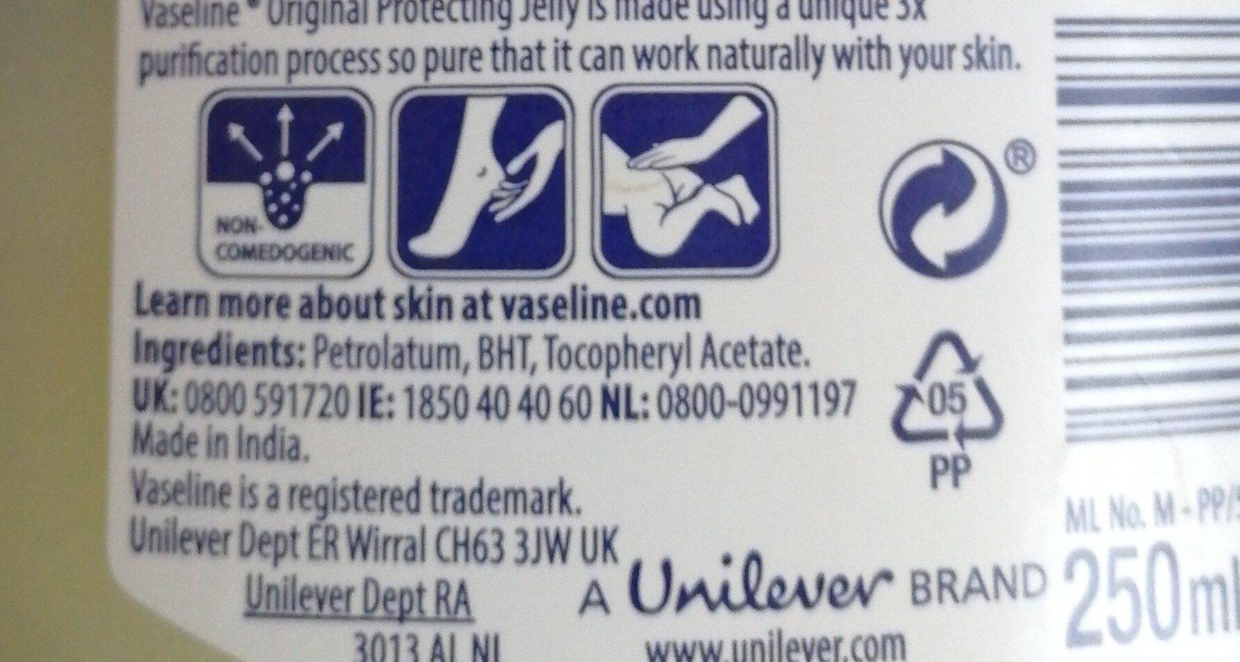 Vaseline - Ingrédients - en