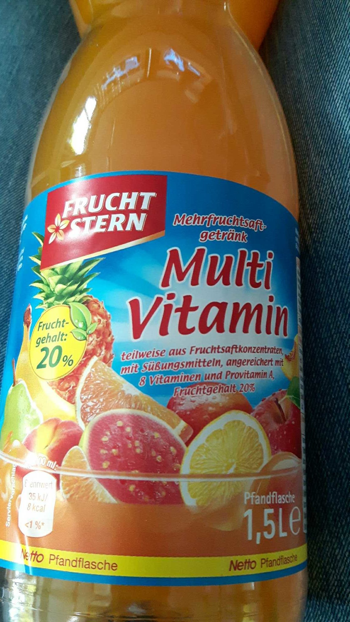 Mehrfruchtsaftgetränk Multivitamin — Frucht Stern Netto — 1,5L