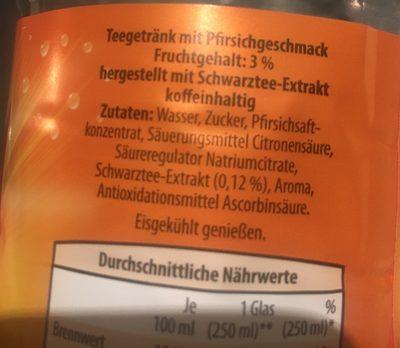 Eistee Light ( aldi DE ) - Ingredients - fr