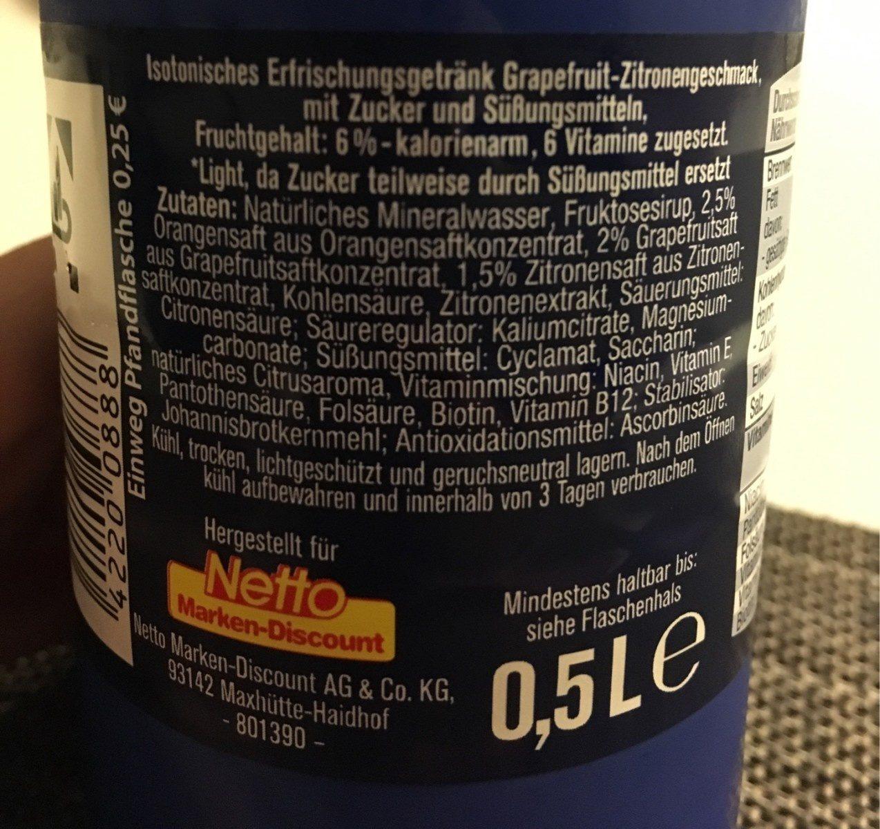ISO Light - Ingrédients