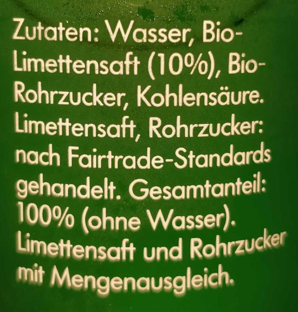 LemonAid, Limette - Zutaten